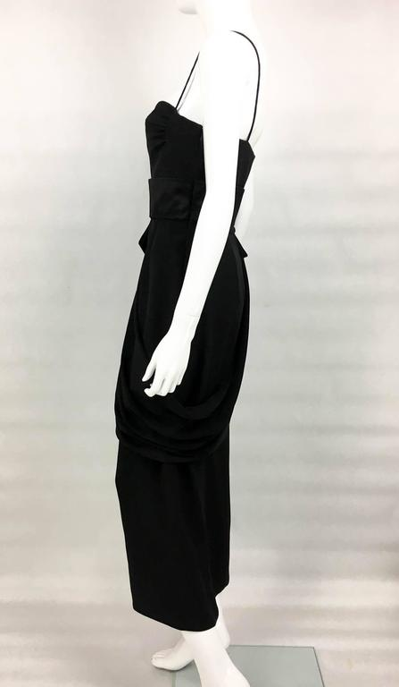 Valentino Silk-Blend Black Evening Dress With Buckle Details - 21st Century For Sale 1