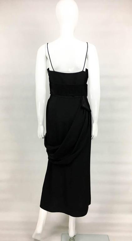 Valentino Silk-Blend Black Evening Dress With Buckle Details - 21st Century For Sale 2