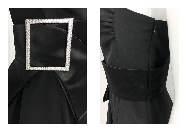 Valentino Silk-Blend Black Evening Dress With Buckle Details - 21st Century For Sale 5