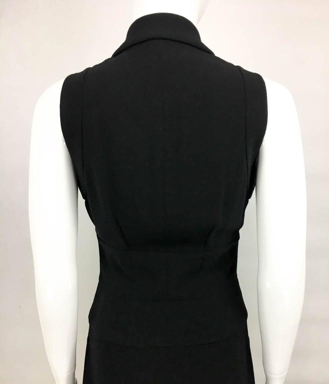 Chanel Black Waistcoat-Style Wool Dress With Logo Buttons - 1990s 9