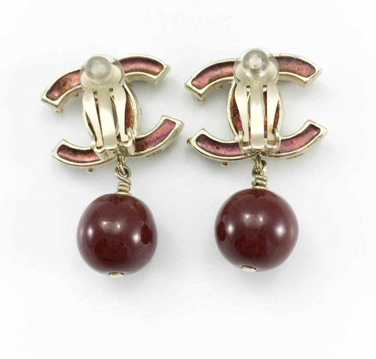 Chanel Paris-Bombay Collection Red Gripoix Dangling Earrings - Circa 2012 For Sale 4