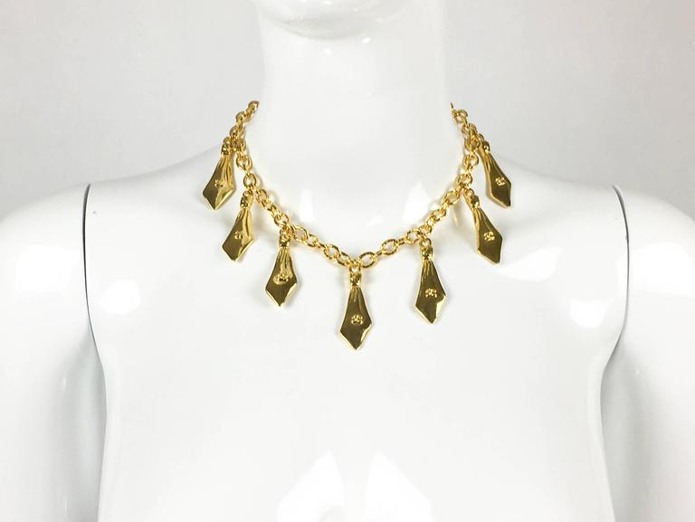 1970s Chanel Gilt Ties Chain Necklace 3