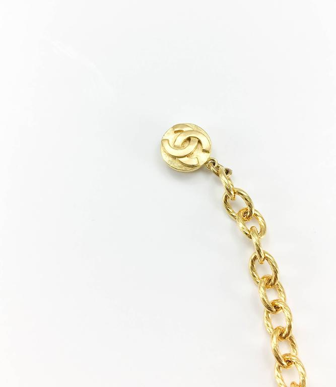 1970s Chanel Gilt Ties Chain Necklace 6