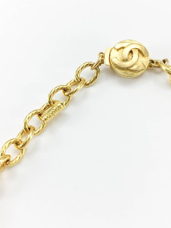 1970s Chanel Gilt Ties Chain Necklace 7