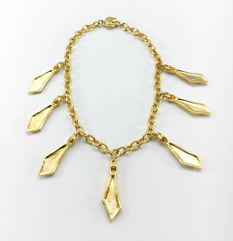 1970s Chanel Gilt Ties Chain Necklace 9