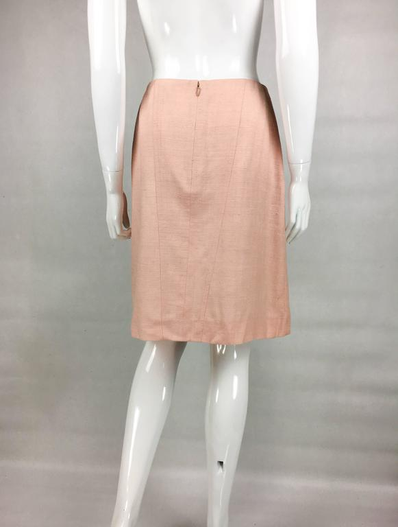 2001 Chanel Pale Pink A-Line Silk Skirt 6