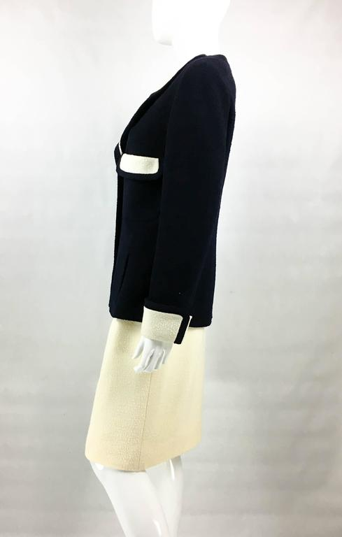 Chanel Nautical Inspired Navy and White Wool Skirt Suit, Circa 1982 8