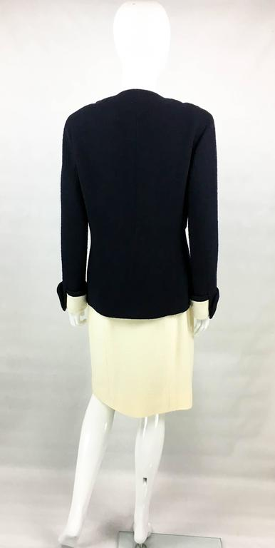 Chanel Nautical Inspired Navy and White Wool Skirt Suit, Circa 1982 9