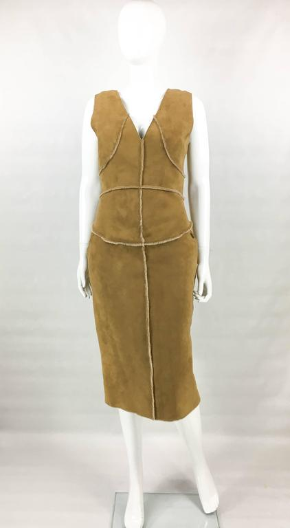 Chanel Runway Tan Sheepskin Dress, Fall/Winter 1999 2