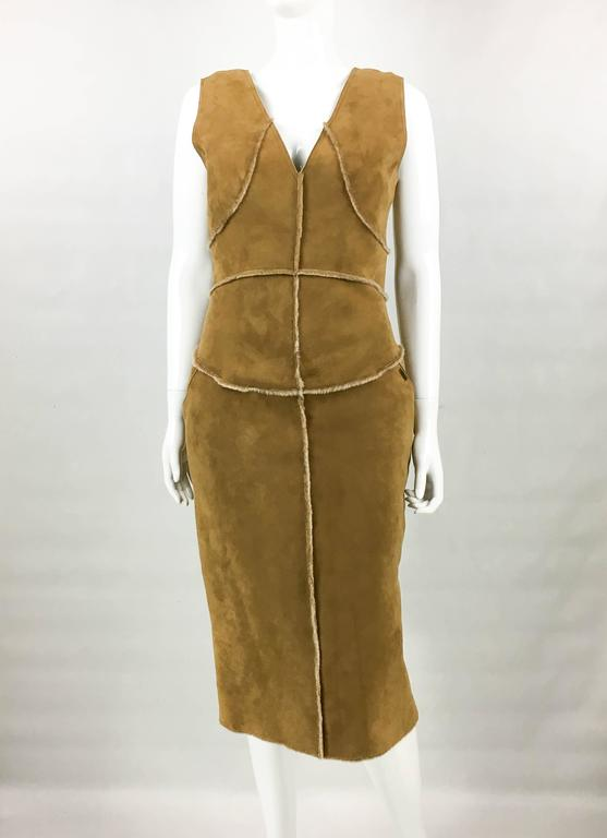 Chanel Runway Tan Sheepskin Dress, Fall/Winter 1999 3