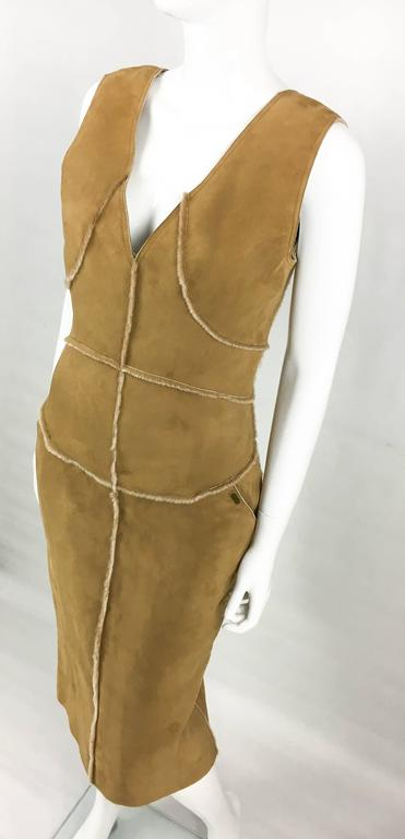 Chanel Runway Tan Sheepskin Dress, Fall/Winter 1999 5