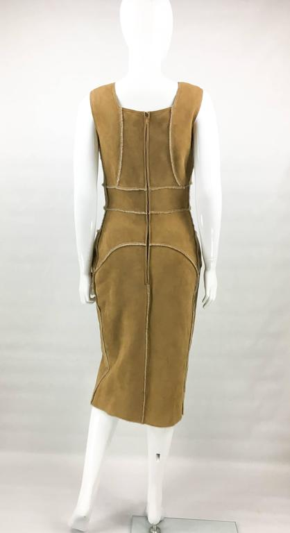 Chanel Runway Tan Sheepskin Dress, Fall/Winter 1999 8
