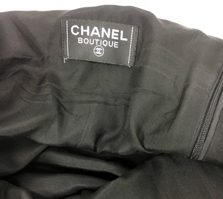 1995 Chanel Dungaree-Style Black Wool Jumpsuit For Sale 6