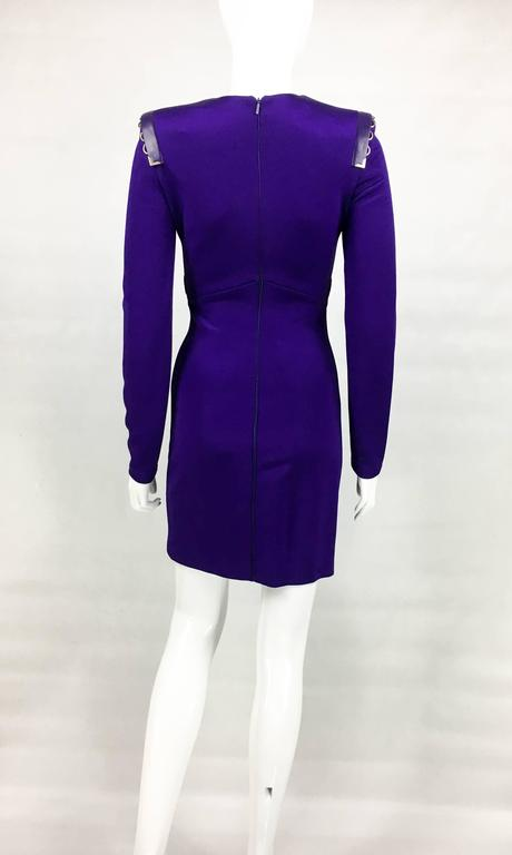 2010s Versace Royal Purple Body-Hugging Cocktail Dress 9