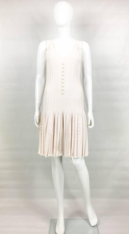 2012 Chanel Pale Pink Summer Dress With Pearl Buttons 2
