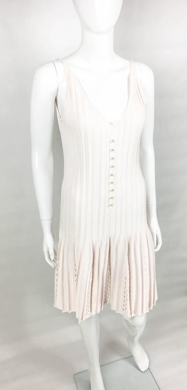 2012 Chanel Pale Pink Summer Dress With Pearl Buttons 4