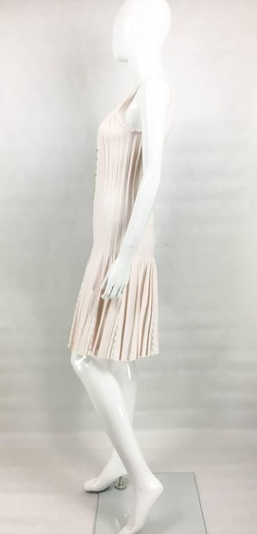 2012 Chanel Pale Pink Summer Dress With Pearl Buttons 5