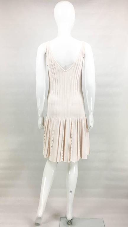 2012 Chanel Pale Pink Summer Dress With Pearl Buttons 6