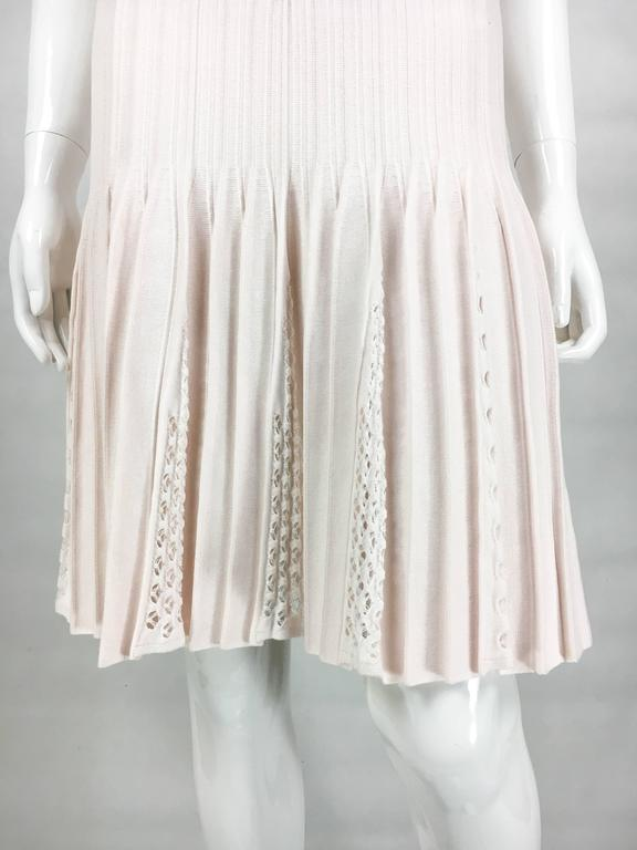 2012 Chanel Pale Pink Summer Dress With Pearl Buttons 9