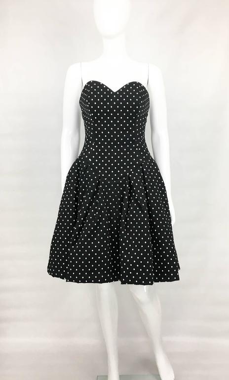 1980s Christian Lacroix Haute Couture Puffball Polka Dot
