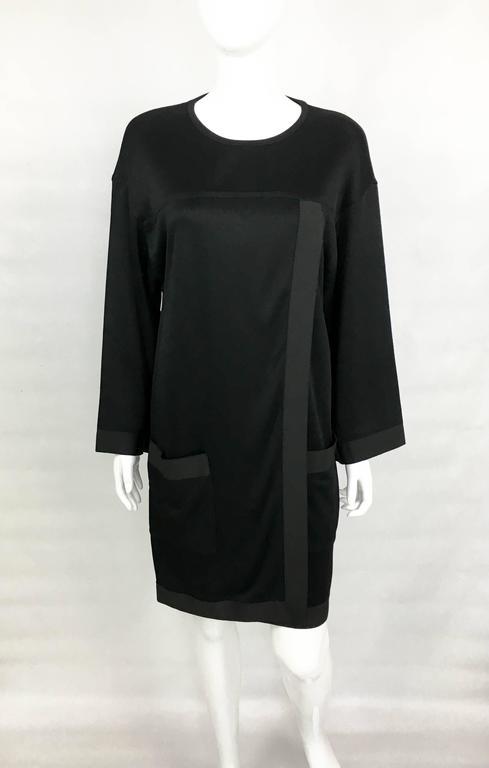 1990s Chanel Black Jumper Dress 3