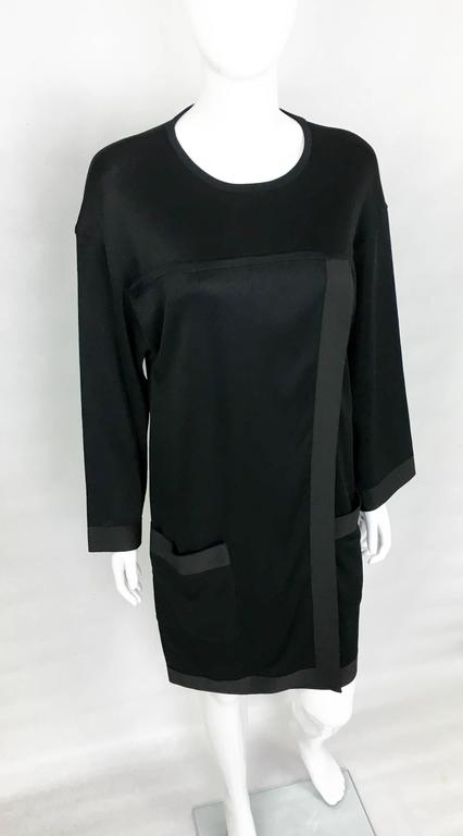 1990s Chanel Black Jumper Dress 5