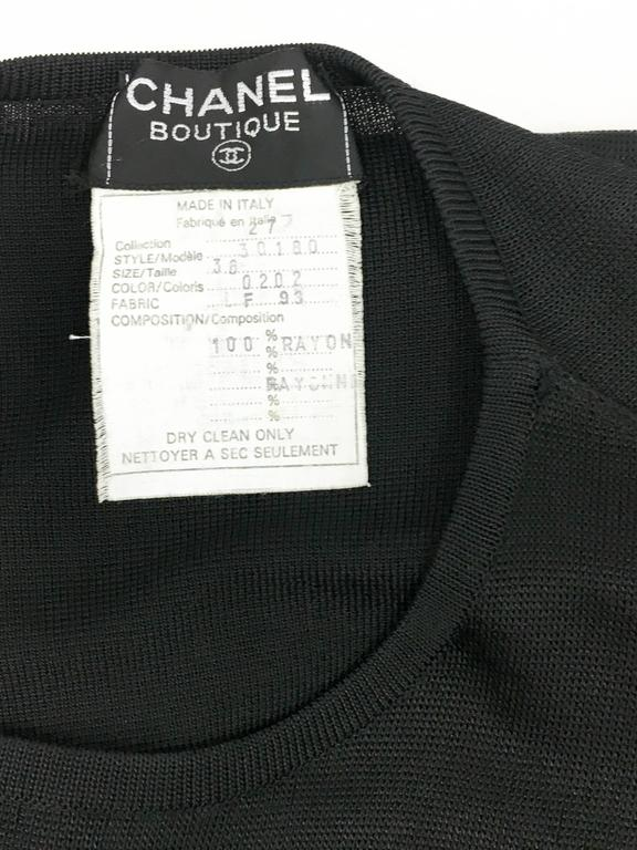 1990s Chanel Black Jumper Dress 10