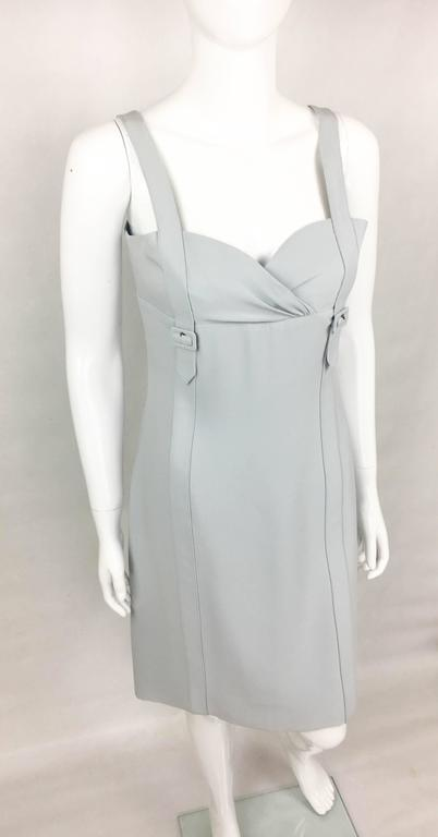 Valentino Pale Blue Silk Dress In Excellent Condition For Sale In London, Chelsea