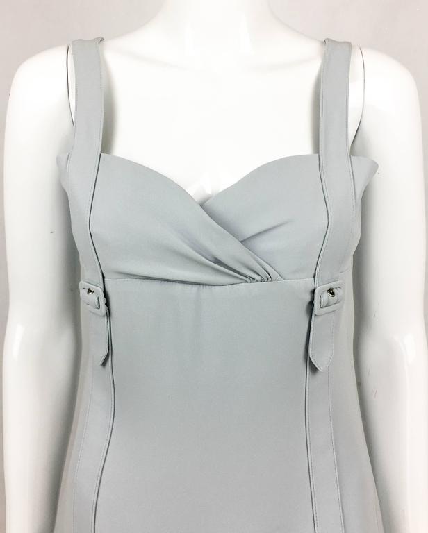 Valentino Pale Blue Silk Dress For Sale 1