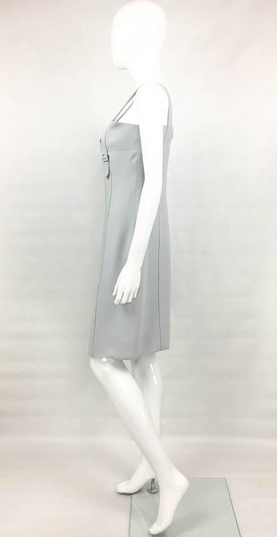 Valentino Pale Blue Silk Dress For Sale 2