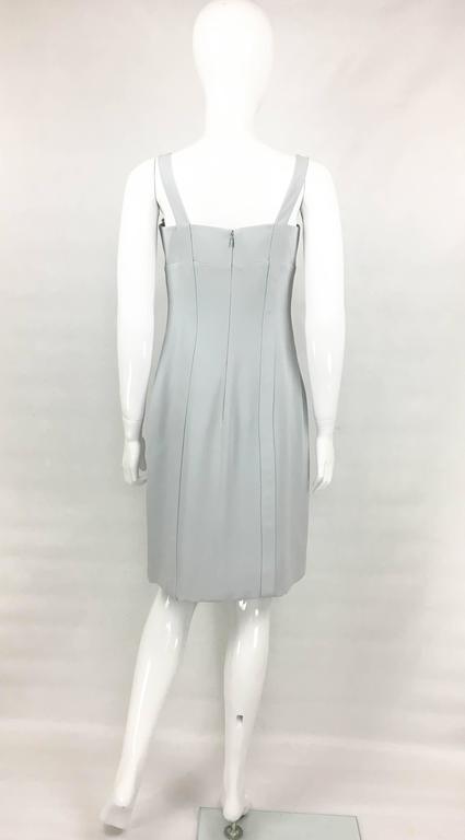 Valentino Pale Blue Silk Dress For Sale 3