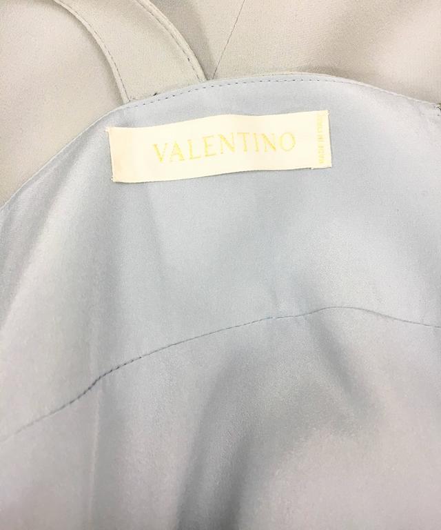 Valentino Pale Blue Silk Dress For Sale 4
