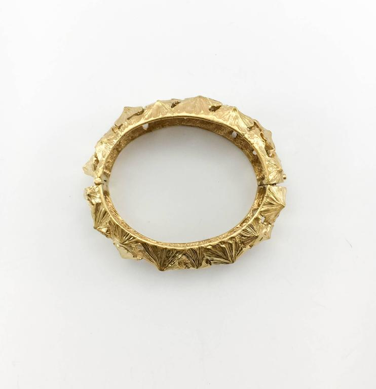 Women's Lanvin Modernist Gilt Bracelet, 1970s  For Sale