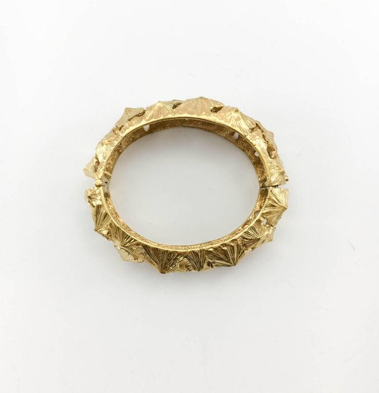 Women's Lanvin Modernist Gilt Bracelet, 1970s  For Sale