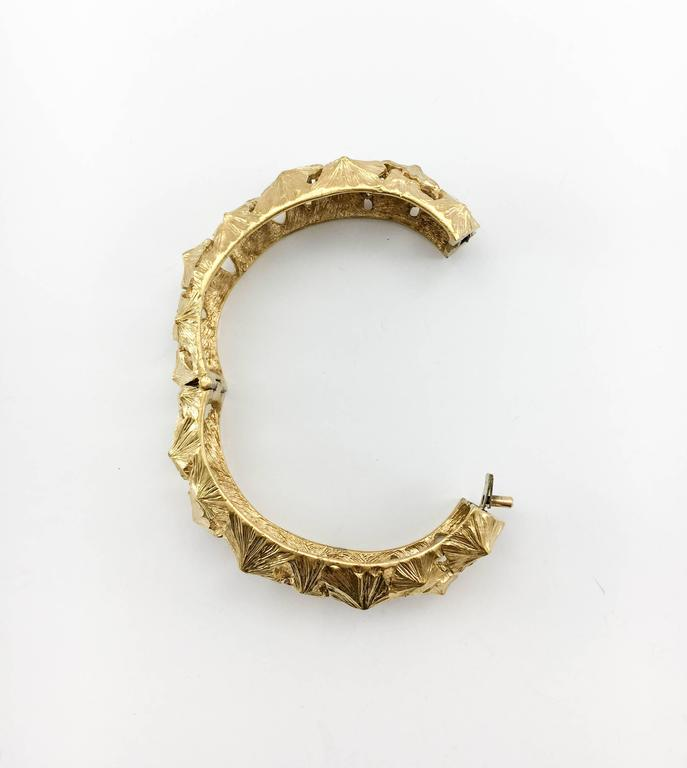 Lanvin Modernist Gilt Bracelet, 1970s  For Sale 1