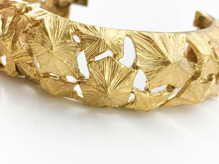 Lanvin Modernist Gilt Bracelet, 1970s  For Sale 2
