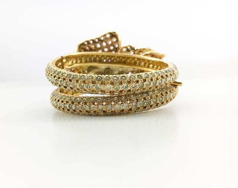 1990s Valentino Diamanté and Faux Amethyst Gilt Flower Bracelet For Sale 1
