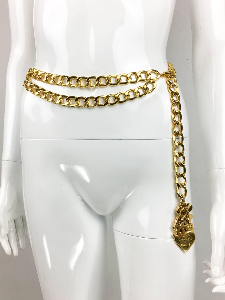 1996 Chanel Gilt Chain and Charms Belt / Necklace 4