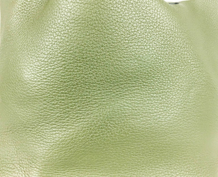 2007 Hermes Picotin 22 Handbag in Olive Green Clemence Leather For Sale 2
