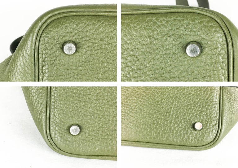 2007 Hermes Picotin 22 Handbag in Olive Green Clemence Leather For Sale 4