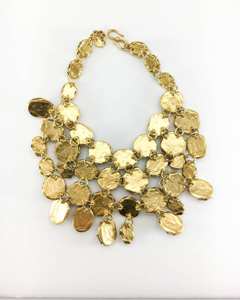 1990 Yves Saint Laurent Chunky Colourful Resin Gem Bib Necklace For Sale 6