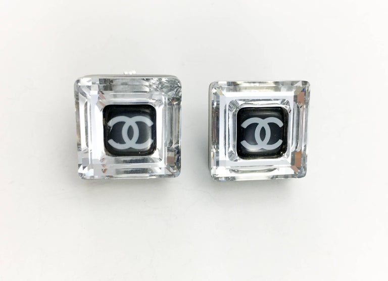 Chanel Square Logo Post Earrings, 2005   For Sale 1