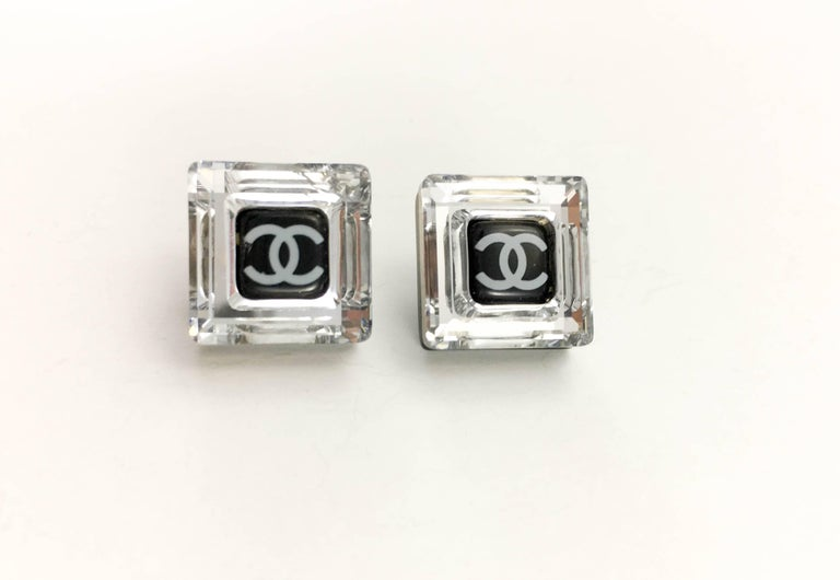 Chanel Square Logo Post Earrings, 2005   In Excellent Condition For Sale In London, Chelsea
