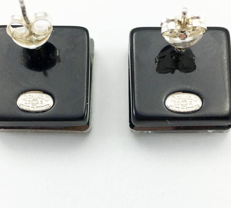 Chanel Square Logo Post Earrings, 2005   For Sale 4