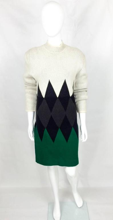 Jean Paul Gaultier Wool Dress - 1985 In Excellent Condition For Sale In London, Chelsea