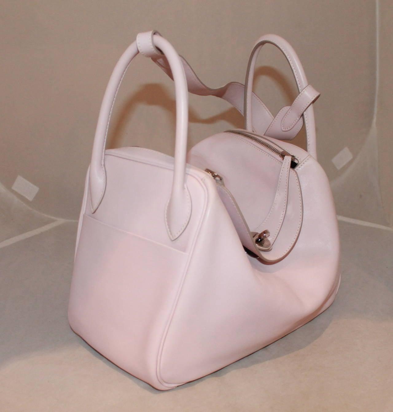 Hermes Rose Dragee 30cm Lindy Veau Swift Handbag - circa 2007 2