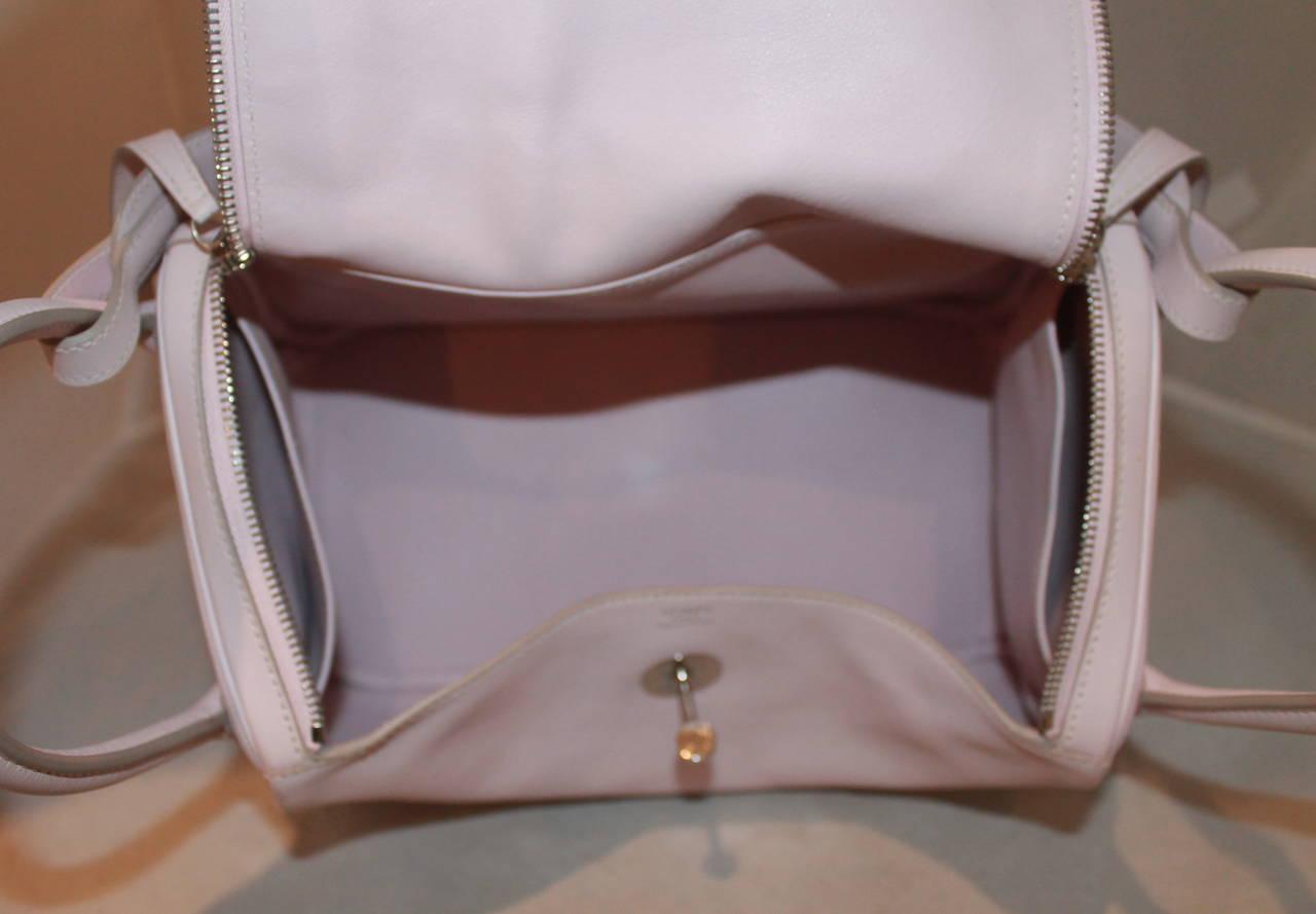 Hermes Rose Dragee 30cm Lindy Veau Swift Handbag - circa 2007 4
