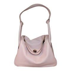 Hermes Rose Dragee 30cm Lindy Veau Swift Handbag, circa 2007