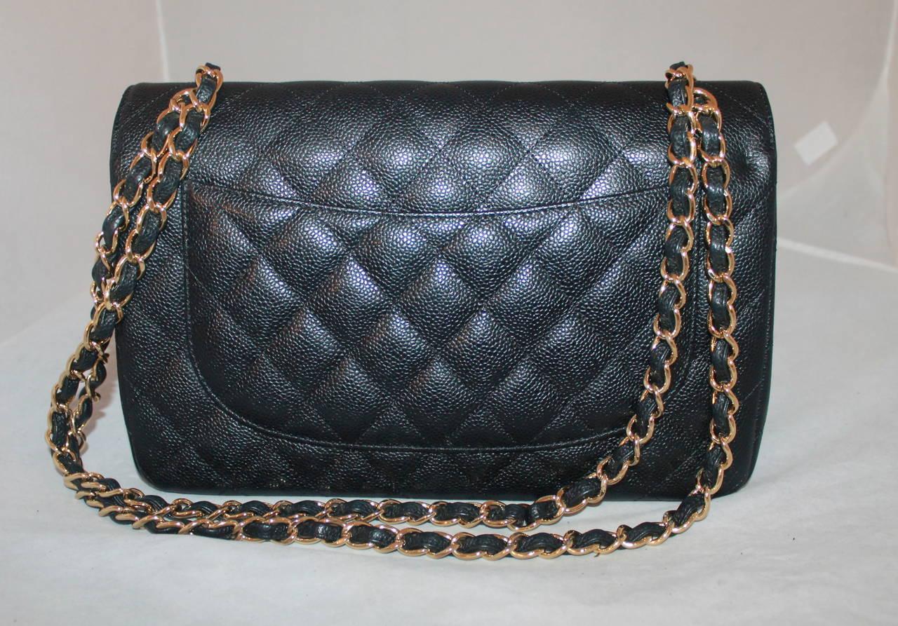 49bf7868364 Chanel Black Caviar Jumbo Double Flap Handbag · Chanel New Black Quilted  Caviar Leather Small Cross Body Bag · Chanel Crossbody Ladies Bag Price In  Pakistan ...