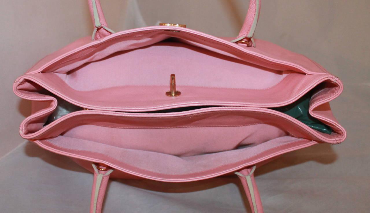 Chanel Vintage Pink Caviar Leather Tote - circa 2005 3